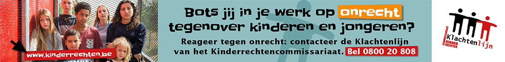 Banner Klachtenlijn Kinderrechtencommissariaat