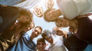 Jongeren in een groep (cirkel)