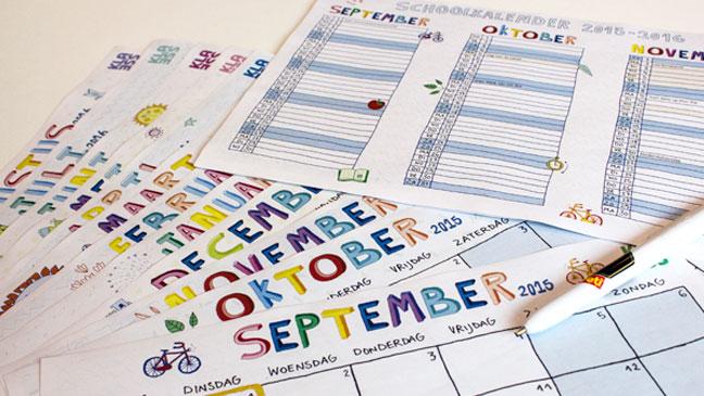 Kalender voor het schooljaar 2015-2016 – Klasse