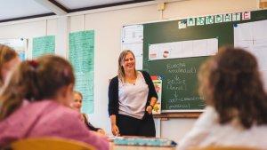 Ellen De Dapper in haar klas