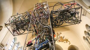 Kruisbeeld van fietsen