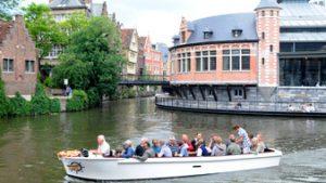 Boottocht in Gent