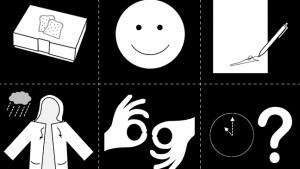 6 verschillende pictogrammen