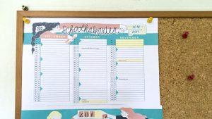 Schoolkalender 2016-2017 hangt aan prikbord