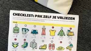checklist valies inpakken