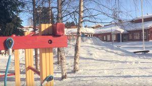 Sneeuw speelplaats