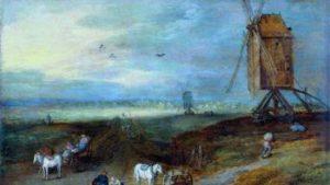 Jan Breughel I, Landschap met windmolen, olieverf op paneel, 1611, inv. 886