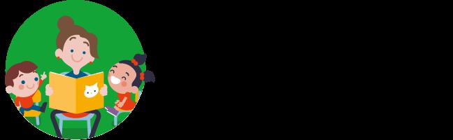 Illustratie van Juf met kleuters in een kring