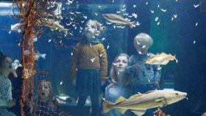 Kindjes in het nationaal visserijmuseum