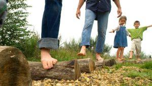 blote voetenpad met je Lerarenkaart in vakantie